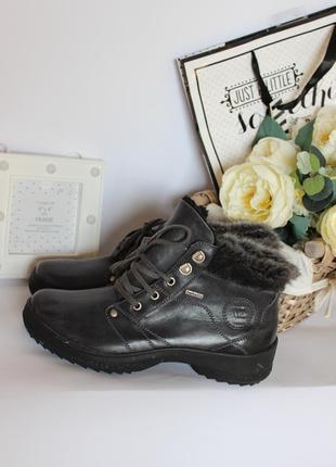 Зимние кожаные ботинки рр39 romika