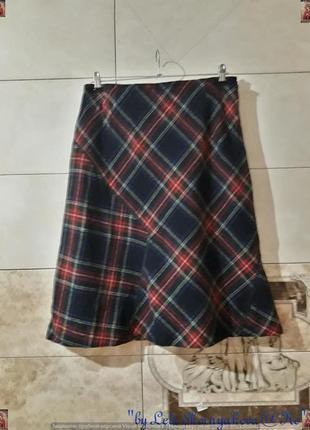 Фирменнная basler юбка миди шерстянная на 75 % юбка миди в клетку, размер л-хл