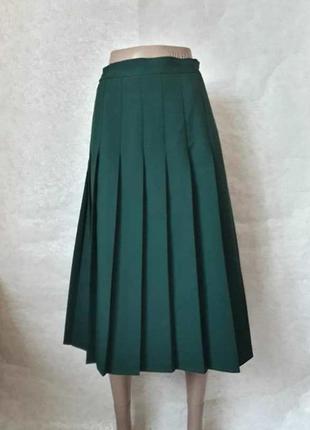 """Новая шикарная юбка миди плиссе в тёмно зелёном цвете """"бутылка"""", размер 4хл-5хл"""