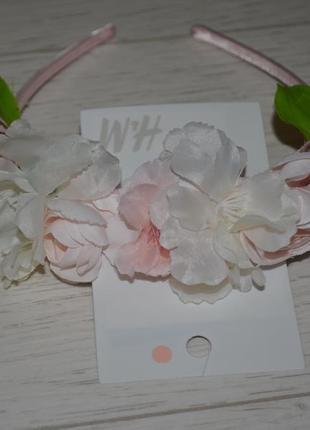 H&m новый фирменный обруч ободок с цветами яблони