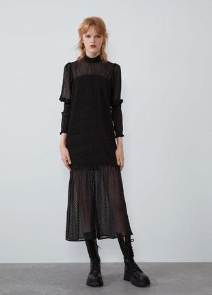 Новое чёрное платье zara
