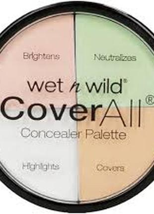 Набор корректоров wet n wild coverall concealer palette
