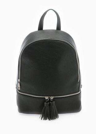Чёрный городской рюкзак stradivarius