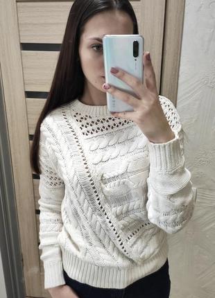 Белый свитер next