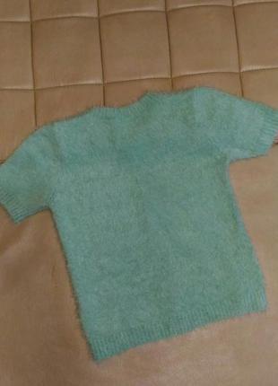 Тёплый, пушистый свитер травка select с коротким рукавом, р.xl2 фото