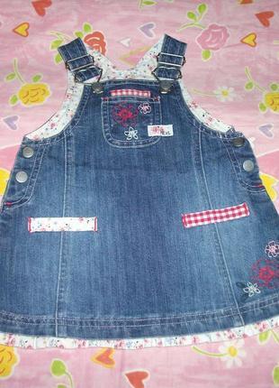 Сарафан джинсовый на маленькую девочку