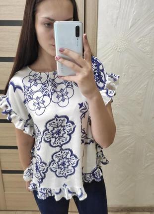 Блуза с рюшами, футболка-блуза
