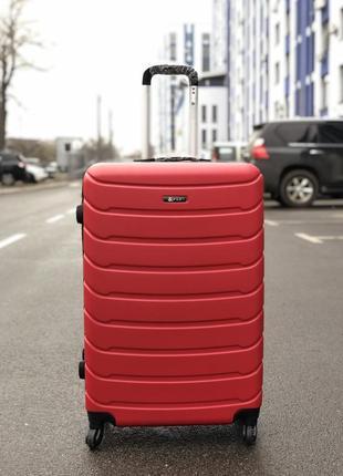Распродажа! большой пластиковый чемодан красный / велика пластикова валіза червона