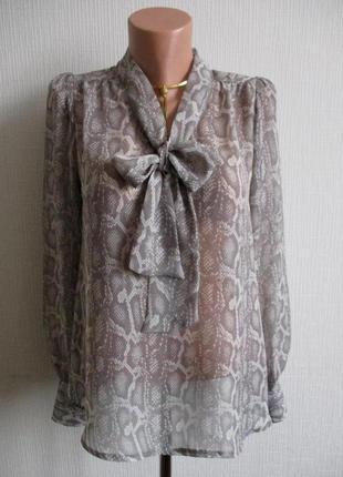 Sale - 50%! красивая шифоновая блуза в принт e-vie