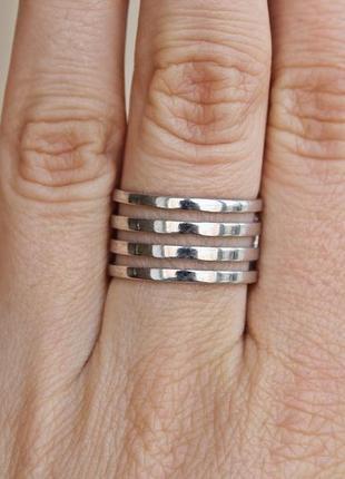 Серебряное кольцо кварта р.18,5