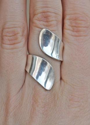 Серебряное кольцо панно безразмерное