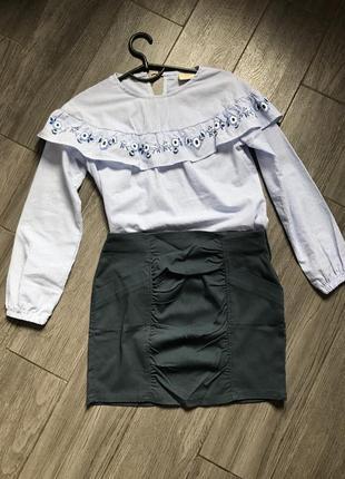Стрейчнвая юбка на девочку 12-13 158 р