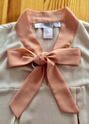 Лёгкая шифоновая блузочка, майка, бант, блуза