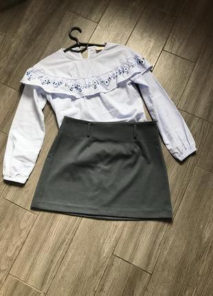Трикотажная юбка деми