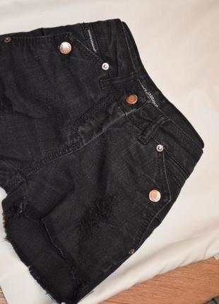 Брендовые джинсовые шорты оригинал качественные dolce&gabbana xs 34 черные