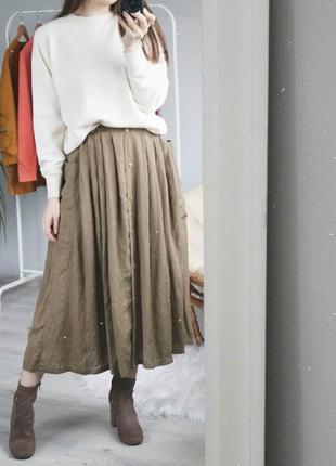 Трендовая юбка на пуговицах