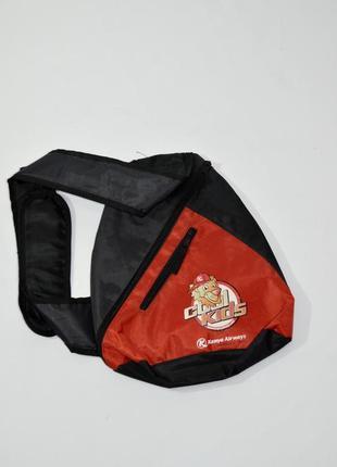 Детский текстильный  рюкзак на одной лямке .  код 2607