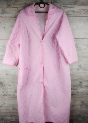 Стеганный розовый халат