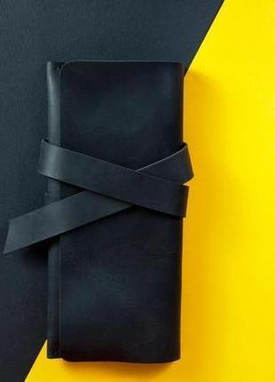 Кожаный клатч с закруткой ручной роботы с винтажной кожи