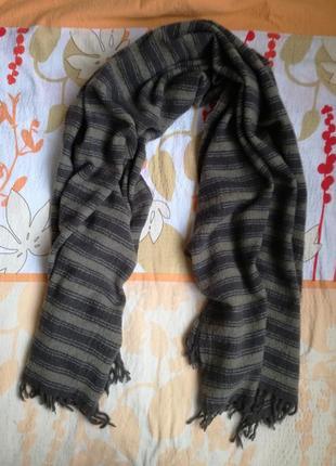 Шерстяной шарф/палантин massimo dutti