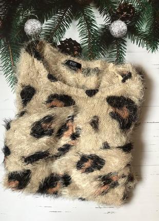 Свитер, свитер-травка, леопардовый принт