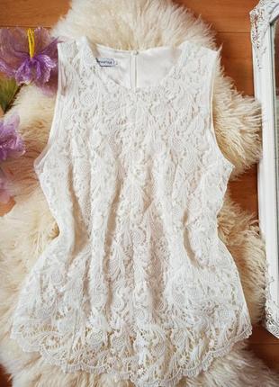 Блуза майка кружевная