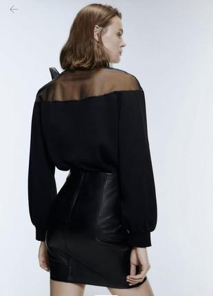 Новый чёрный свитер с бантом zara3 фото
