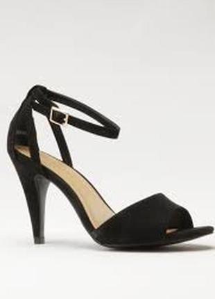 Элегантные босоножки открытый носок закрытая пятка экозамша 41 размера