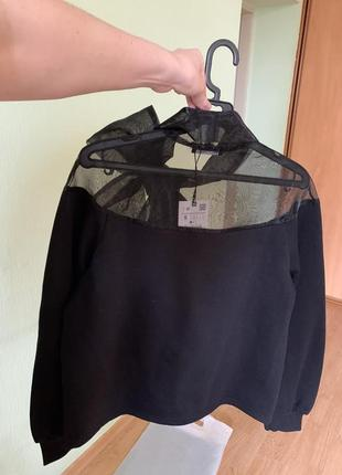 Новый чёрный свитер с бантом zara6 фото