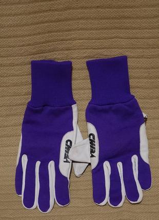 Легкие комбинированные велоперчатки chiba gloves германия s (7/8 ) р.