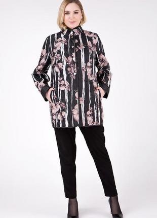 Шикарная двусторонняя ветровка-пиджак, большие размеры