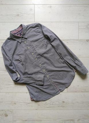 Рубашка с мелкую гусиную лапку оригинал р. 8-10