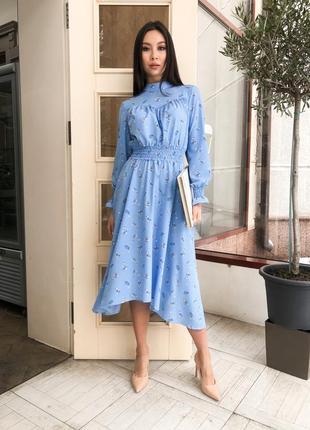 Нереальное весеннее платье в нежный цветочный принт цвета в ассортименте