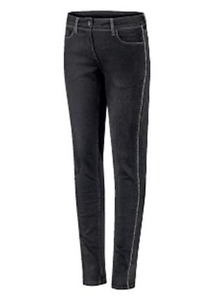 S(38)€ blue motion stretchjeans, metallic
