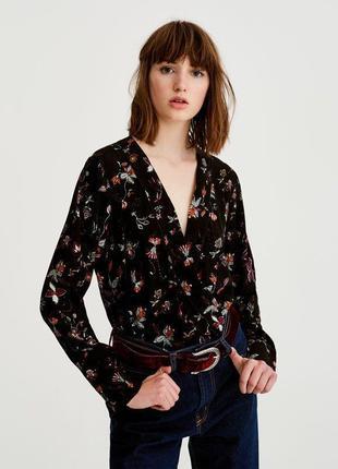 Блуза боді в принт
