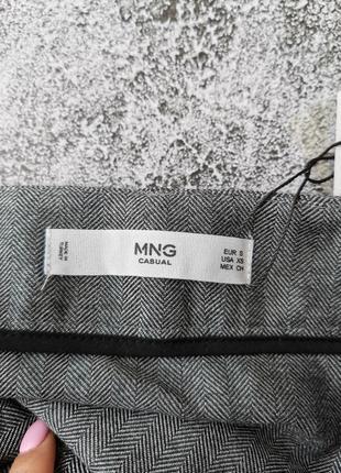 Серая мини юбка6 фото