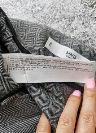 Серая мини юбка7 фото