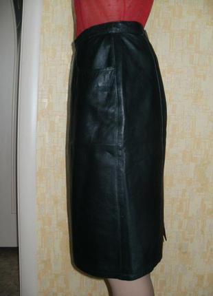 Отличная юбка из натуральной мягчайшей кожи телёнка.юбка.кожаная юбка.юбка-карандаш4