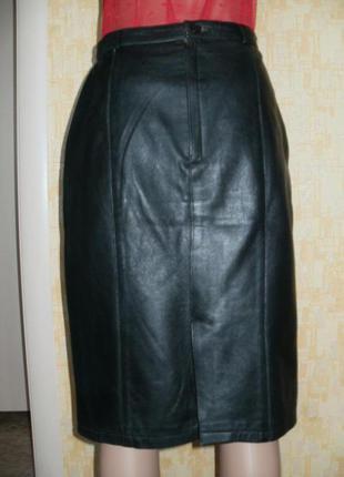 Отличная юбка из натуральной мягчайшей кожи телёнка.юбка.кожаная юбка.юбка-карандаш2