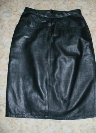 Отличная юбка из натуральной мягчайшей кожи телёнка.юбка.кожаная юбка.юбка-карандаш5