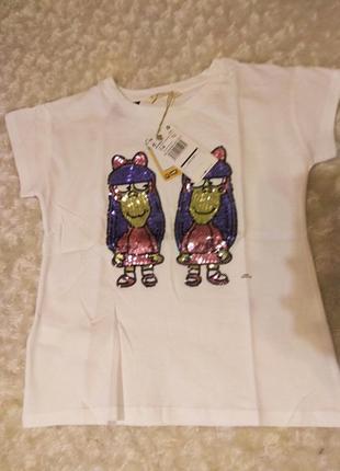 Новые футболки mango с паетками