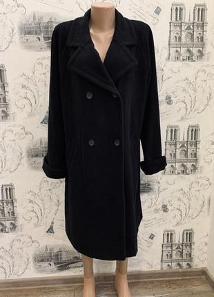 Двубортное пальто миди.в составе шерсть,кашемир. шерстяное пальто. пальто оверсайз
