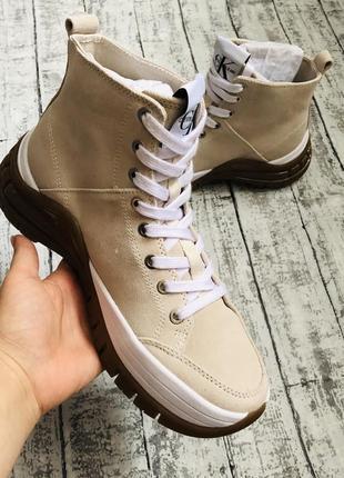 Ботинки calvin klein, замш, оригинал2 фото