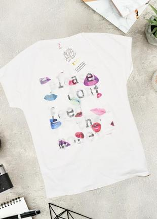 Новая белая футболка с разрезами на спине yasiping