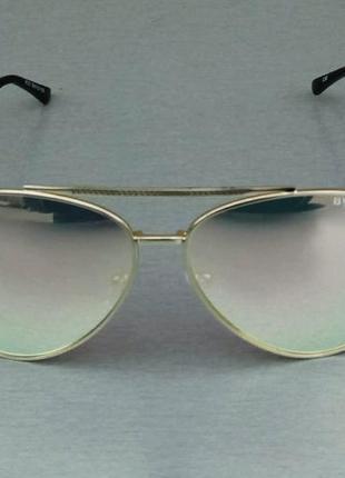 Bvlgari очки капли унисекс солнцезащитные зеркальные розово салатовые