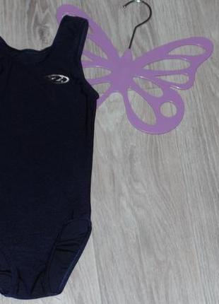 Фирменный купальник-трико для гимнастики или танцев на рост 116-128