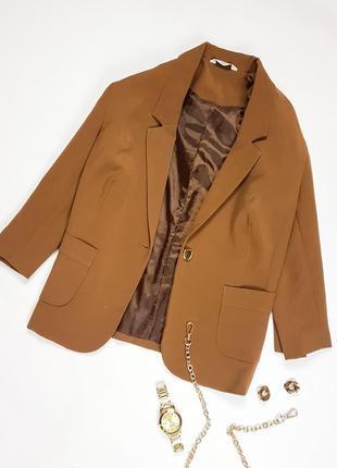 Коричневий піджак new look