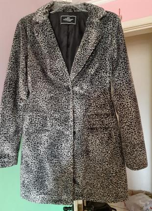 Демисезонное пальто, модный принт
