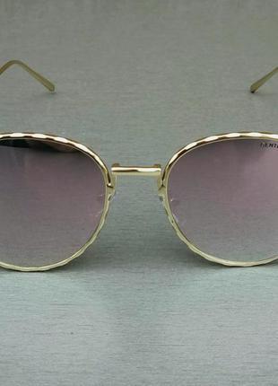 Gentle mobster очки женские солнцезащитные зеркальные розовые в золотой  оправе