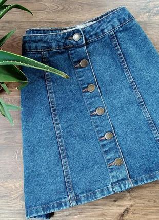 Трендова джинсова спідничка